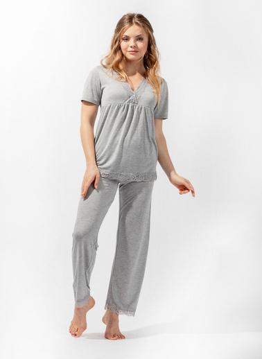 Katia & Bony Silver Line Kadın Pijama Takım Gri